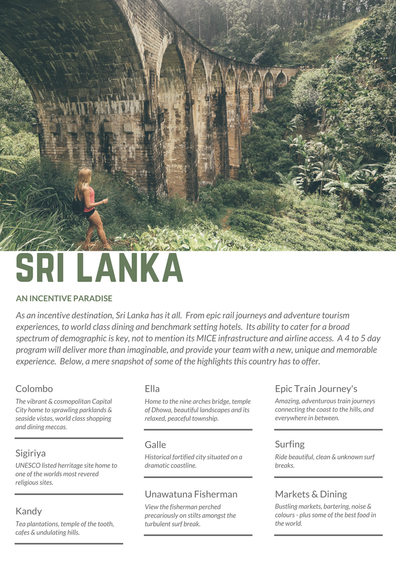INCENTIVE DESTINATIONS // Sri Lanka, an Incentive Paradise